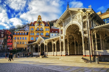Carlsbad, the famous spa city in western Bohemia, very popular t