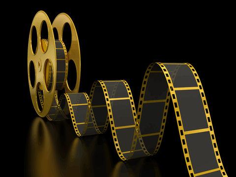 Gold Film Strip on black