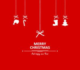 Weihnachtskarte Anhänger Merry Christmas
