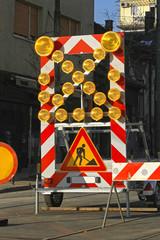 Road Works Lights