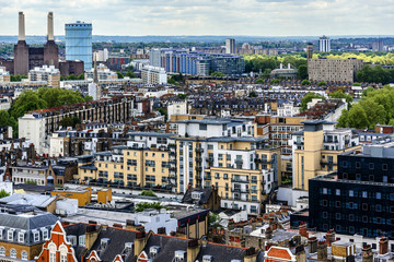 Aerial View from Westminster Cathedral: Roofs and Houses. London