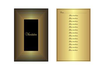 Golden invitation card