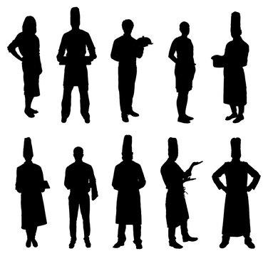 Set Of Restaurant Professions