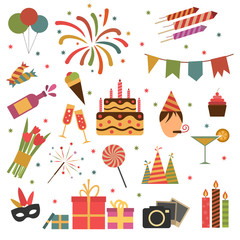 Birthday party icons