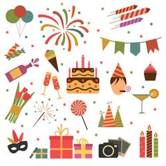 Birthday party icons