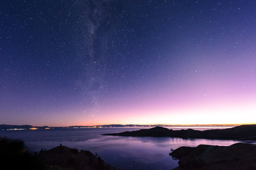 Titicaca Lake by Night