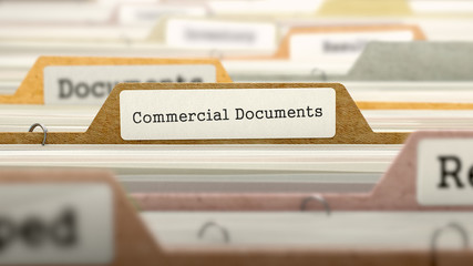 Commercial Documents on Business Folder in Catalog.