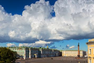 Palace square, Hermitage museum, Saint-Petersburg, Russia