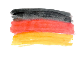 Flag of Germany painted watercolor