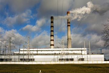 power plant .close up.