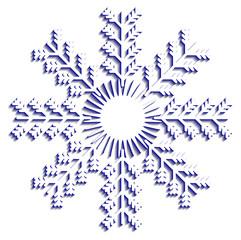 Snowflake vector winter  blue