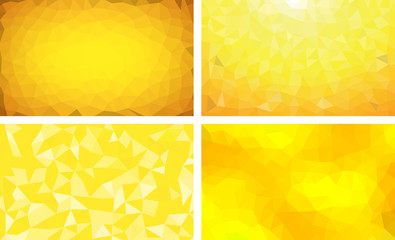vector pack low poly background yellow 1234