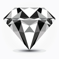 low poly diamond vector design