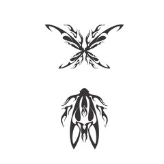 tribal insect tattoo template