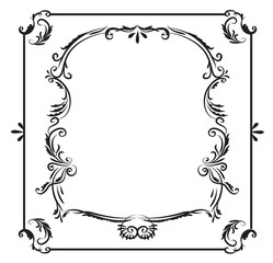 Hand drawn frame graphic element vector design