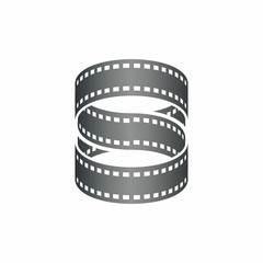 Initial S Infinity film strip logo icon abstract