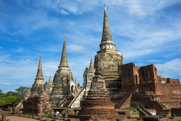 Wat (temple) Phra Si Sanphet was built over 600 years ago. The temple is on the site of the old Royal Palace in Thailand's ancient capital of Ayutthaya.