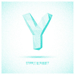 Letter Y from Stipple Alphabet