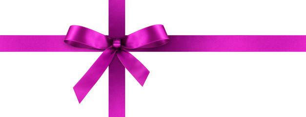 Blaue Geschenkschleife und Geschenkband aus blauem Satin Panorama ...