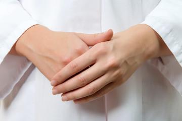 Female doctor hand