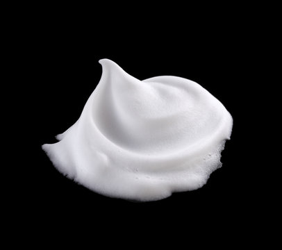 shaving foam isolated on black background