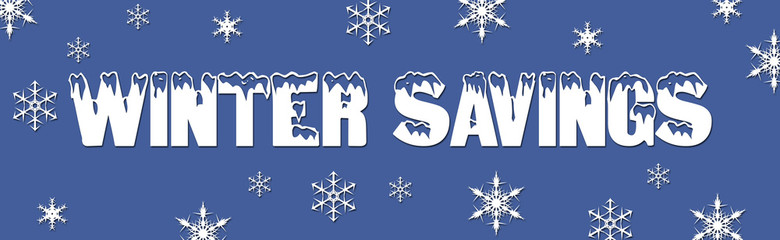 Christmas and winter sale deals web banner savings