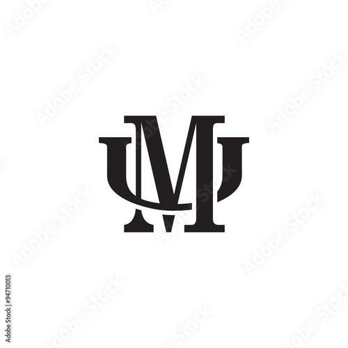 Letter U And M Monogram Logo