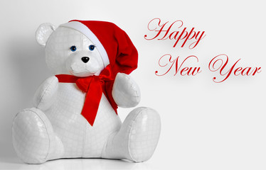 beautiful toy bear wishes Happy New Year