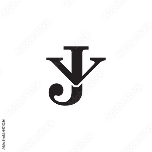 quotletter v and j monogram logoquot stock image and royalty