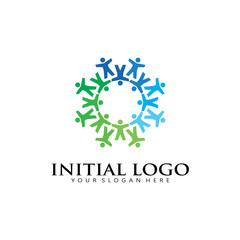 initial O kids Logo Icon