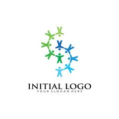 initial S kids Logo Icon