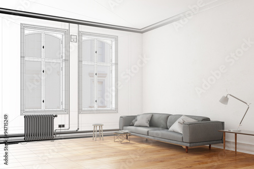 cad planung von wohnzimmer im raumplaner stock photo and royalty free images on. Black Bedroom Furniture Sets. Home Design Ideas