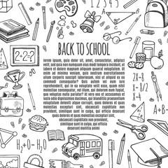 Frame sketch back to school icons design illustration.