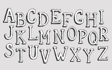 Doodle 3d alphabet