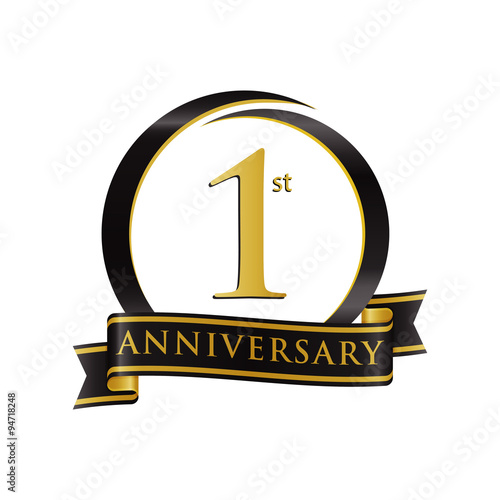 Anniversary logo black gold 1 stock image and royalty free vector anniversary logo black gold 1 altavistaventures Image collections