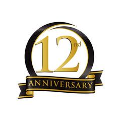 Anniversary Logo Black Gold 12