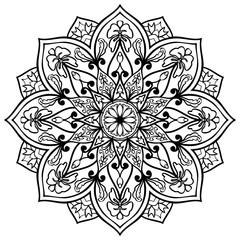 Vector floral mandala.