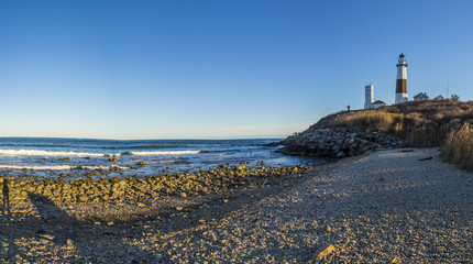 Montauk Point Light, Lighthouse, Long Island, New York, Suffolk