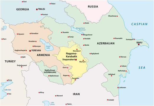 nagorno-karabakh conflict map