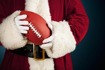Santa: Holding a Football