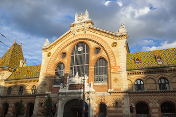 Great Market Hall Facade - Budapest, Czech Republic