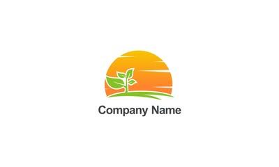 plant nature organic abstract company logo