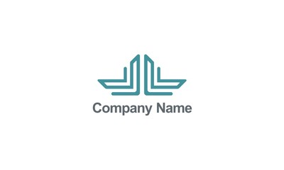 line abstract building construction business logo