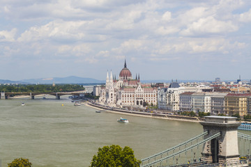 Danube Shore Landscape in Budapest, Czech Republic