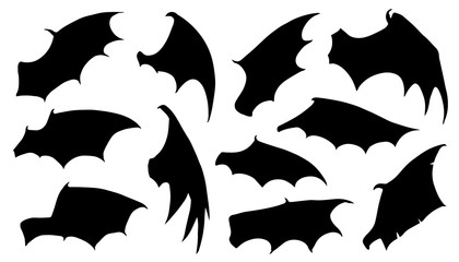 dragon wing silhouettes