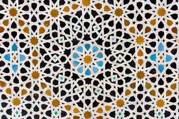 Ceramic mosaic in a Madrassa, Fez, Morocco