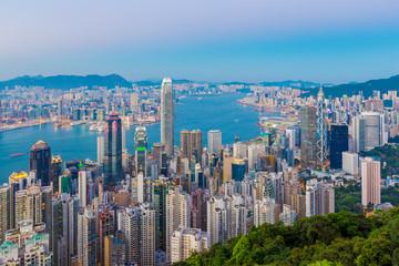 Hong Kong Skyline at Twilight