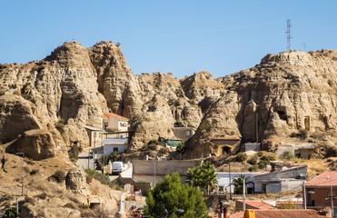 Unusual cave-houses in Purullena near Guadix, Spain