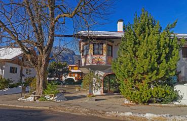 Murals or facade paintings of the houses of Garmisch-Partenkirchen