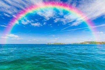 Classic Rainbow. A rainbow across the sky